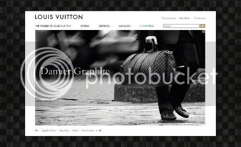 Louis Vuitton Website: Damier Graphite Theme
