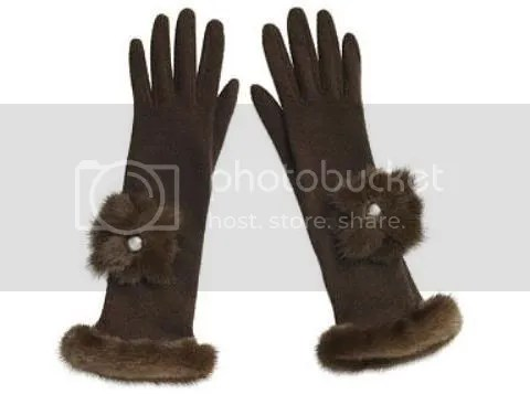 Louis Vuitton Mink Gloves