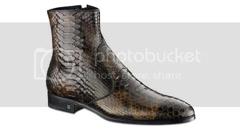 Louis Vuitton Spy Ankle Boot in Python Leather