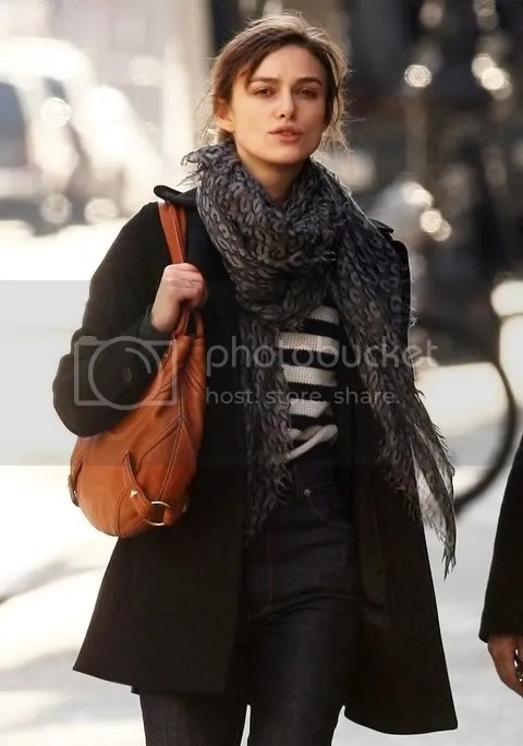 Keira Knightley Rocks Louis Vuitton Leopard Stole