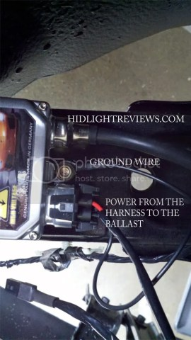 power, ground, bulb