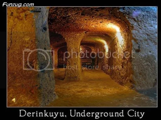 Unusual Underground City at Cappadocia