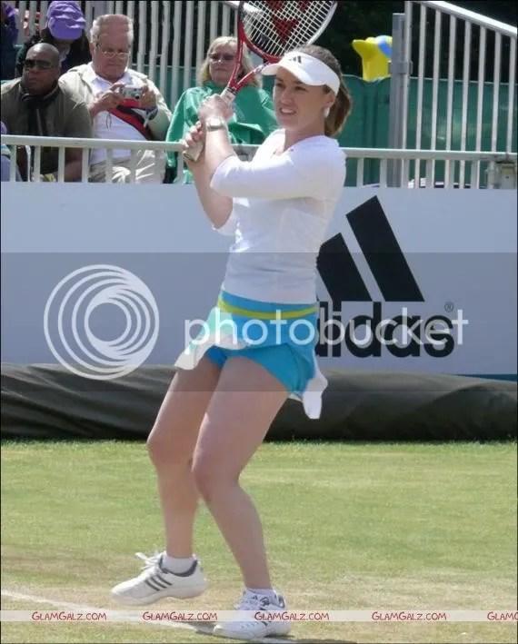 Martina Hingis Tennis Court Action Shots