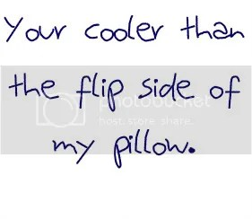 your cooler than the flip side of my pillow owl city lyrics Pictures, Images and Photos