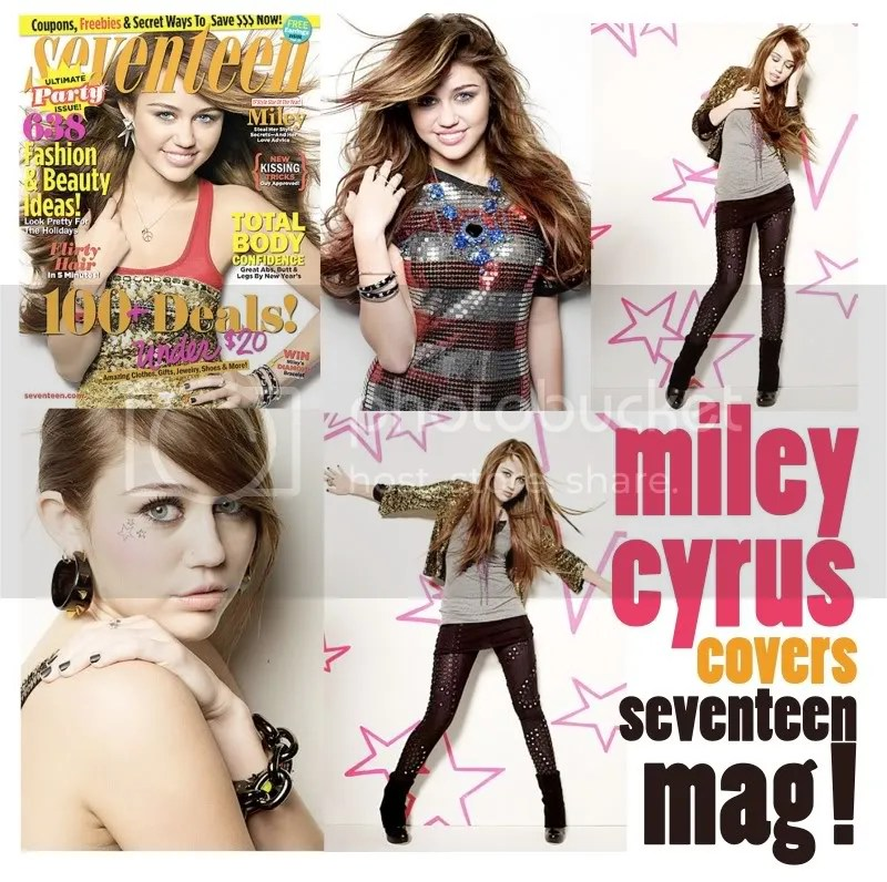 miley cyrus,seventeen magazine,birthday,cover,stars on face,december cover