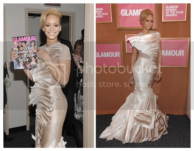 rihanna,glamour magazine,women of the year,2009,stephane rolland