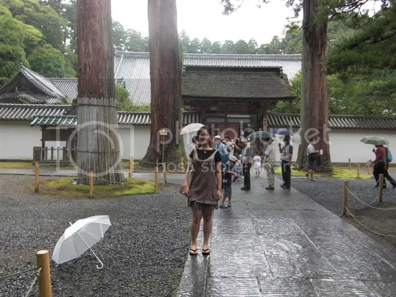 At the gate of Zuiganji temple with my umbrella