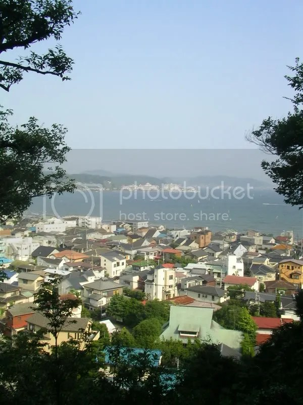 Overlooking Kamakura beach.Watch out for eagles and windsurfers!