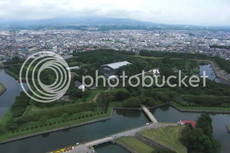 Goryokaku Fortress viewed from the Goryokaku Tower.