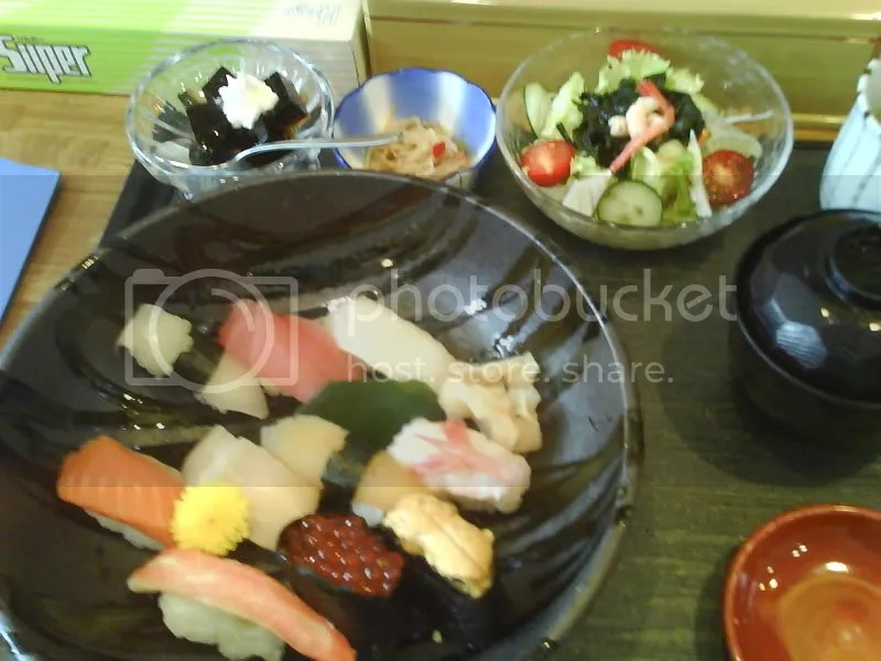 Sushi set for 2100 yen (abt SGD 23)