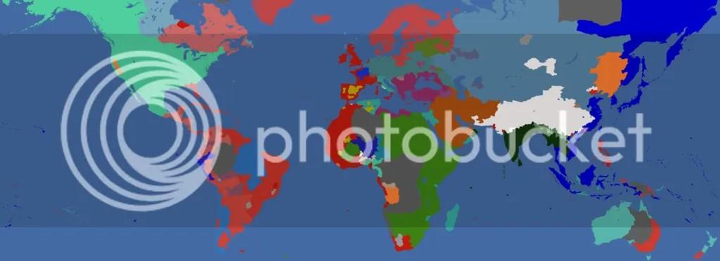 World map, 1689