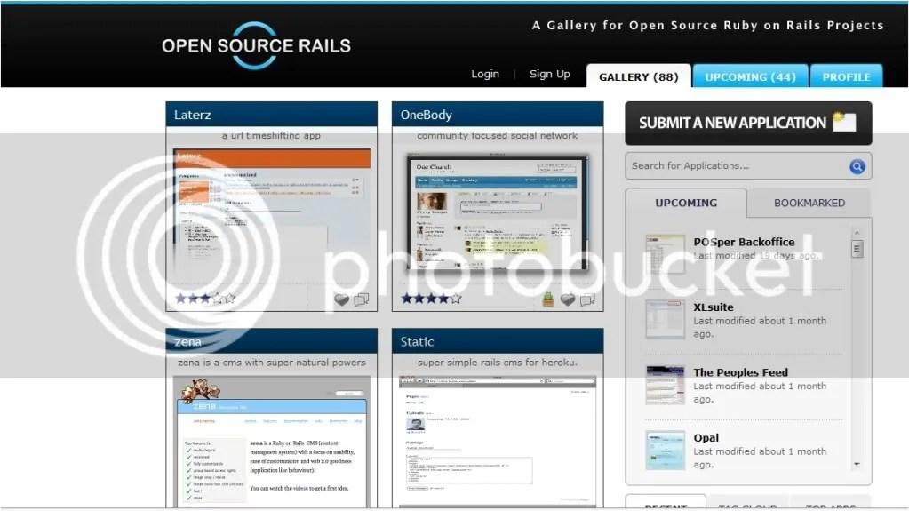 open source rails screenshot