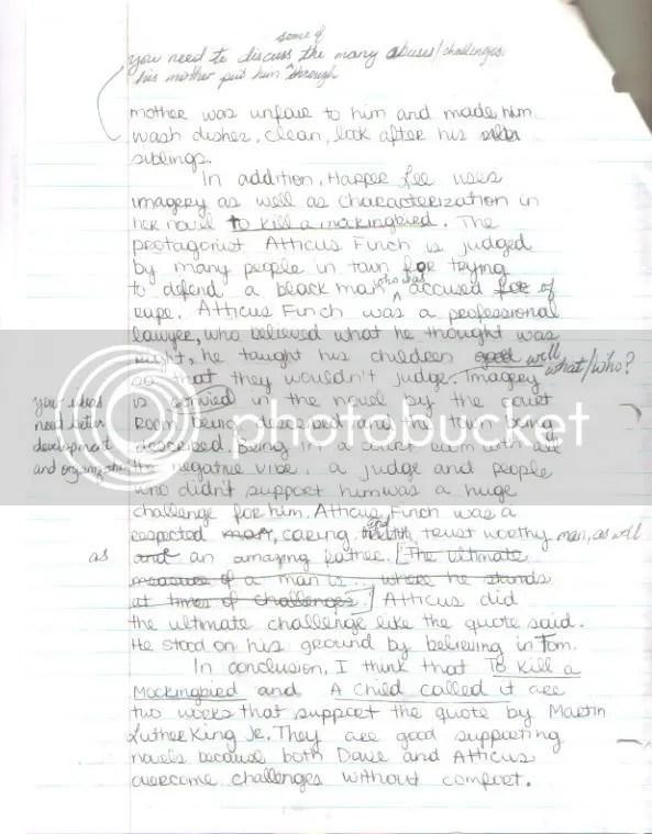Critical outline of essay