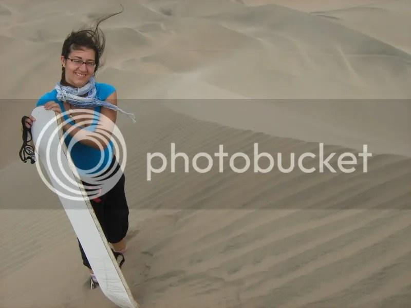 moi toute fière de faire du sandboard