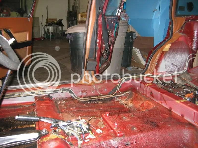 Lancia Beta stripped interior