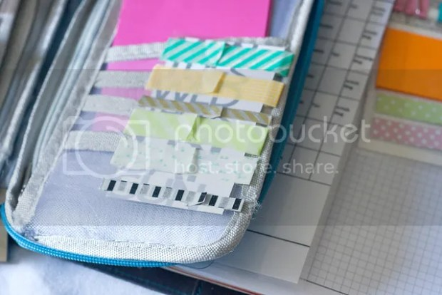 22 Ways to Use project Life Cards - washi tape holder