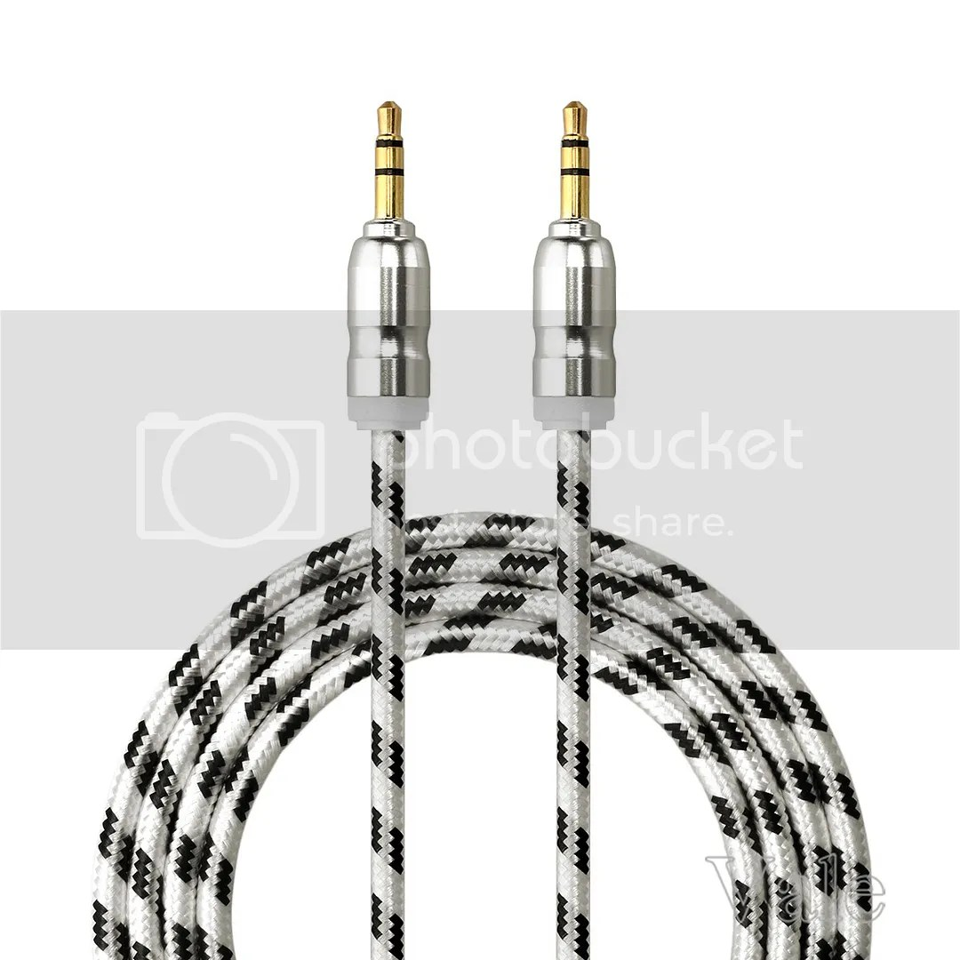 1m 3 5mm Braided Stereo Jack To Jack Aux Cable Audio