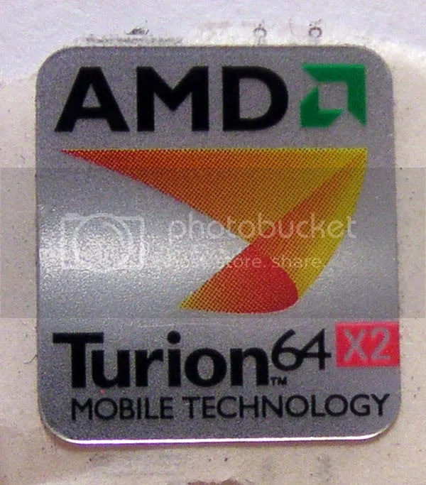 AMD Turion 64 X2 Mobile Technology METALLIC background 17mm x 19mm (limited quantity)
