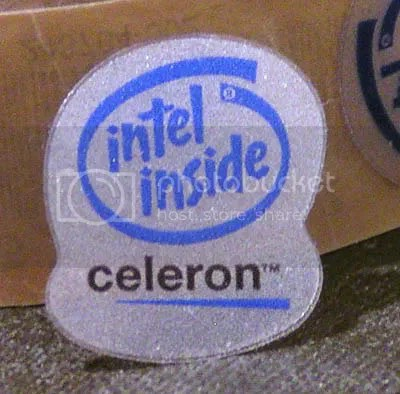 Old-School Intel Inside Celeron 21mm x 25mm translucent