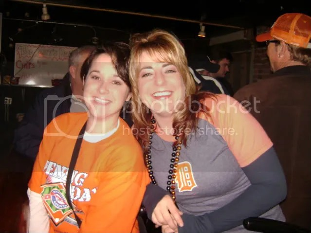 Opening Day 2008.  Kathy (right) and Me