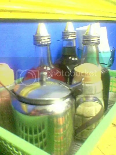 condiments....