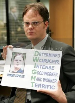 I AM NOT DWIGHT!!!!