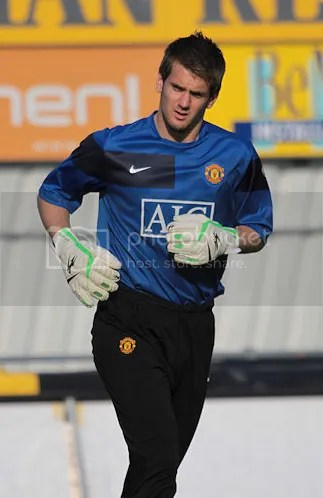 Tom Heaton - warming up with little idea of what was to come...