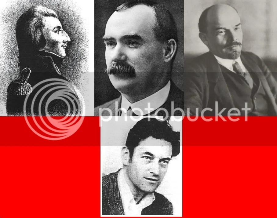 Tone, Connolly, Lenin y Seamus Costello abajo