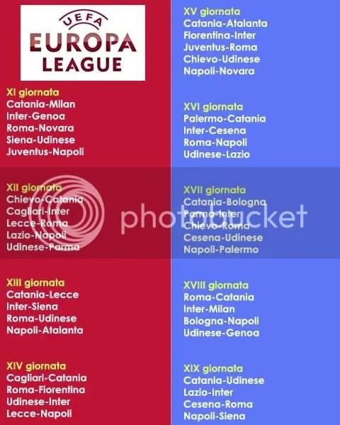 Roma Calendario Europa League.Corsa All Europa League Il Calendario Dei Prossimi Match