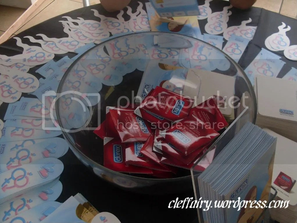Brochures and free condom samples