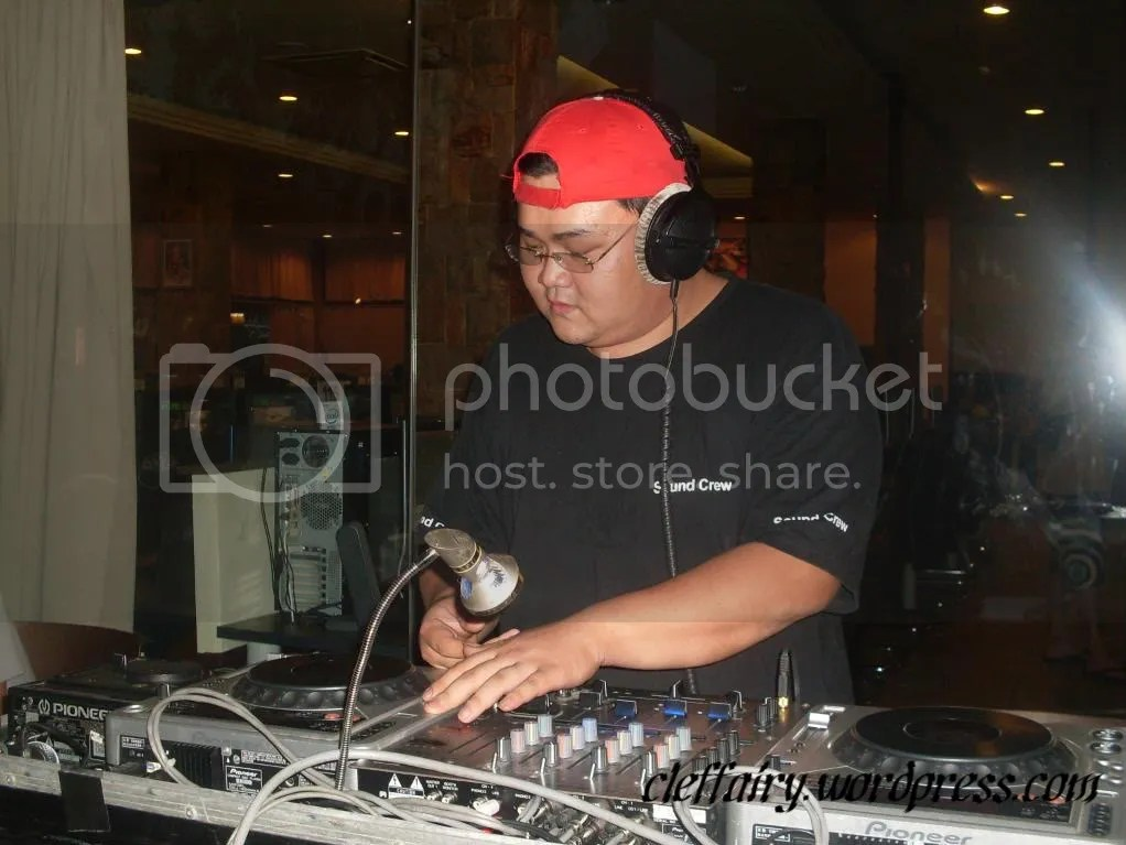 The deejay who is responsible spinning sounds and music