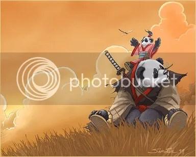 Panda ninja!