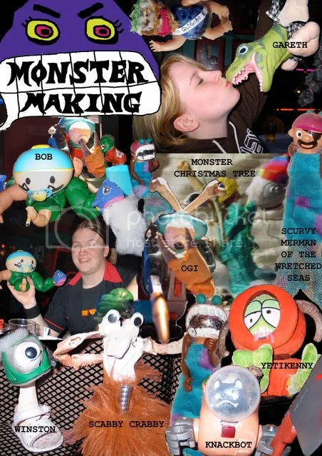 monster collage