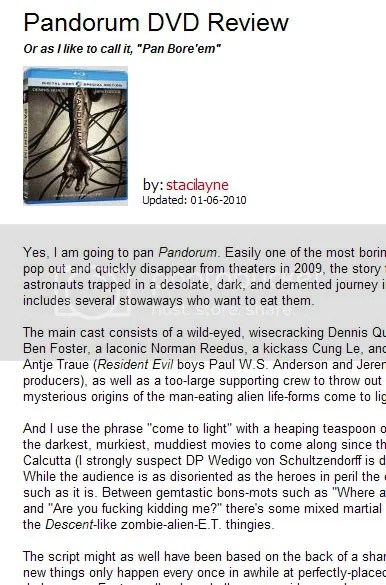 Pandorum DVD Blu-ray Review