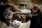 Robert Langdon (Tom Hanks, left), Vittoria Vetra (Ayelet Zurer), Chartrand (Thure Lindhart) and Carlo Ventrasca (Ewan McGregor) examine clues in Angels.
