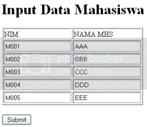 input data form simultan