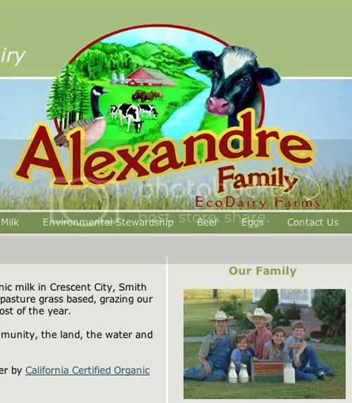 from the Alexandre Farms website -- theirs is the raw milk cowshare that prompted the survey.