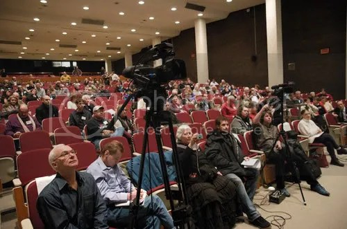 150 paying attendees, three filmmakers and a half-dozen journalist.
