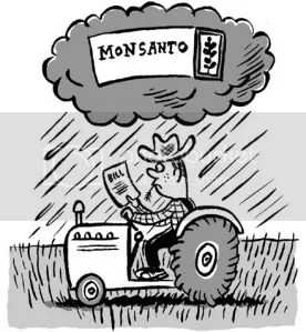 Farmer gets a bill from Monsanto -- for what, protection?