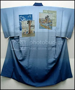 ukiyoe design an's juban kimono