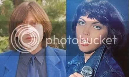 În stânga: Mireille Mathieu. În dreapta: Crin Antonescu.
