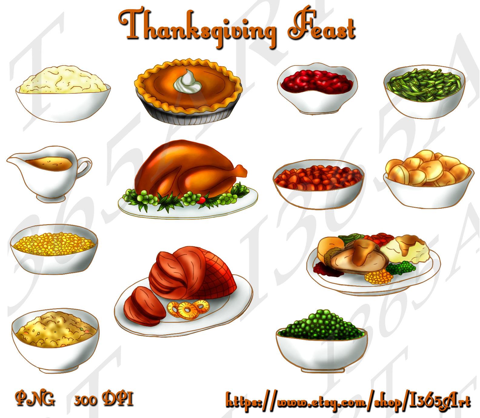 Thanksgiving Turkey Dinner Drawing