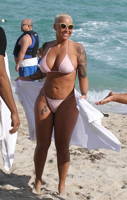 Amber Rose Continues To Floss Her Bikini Bod On Miami