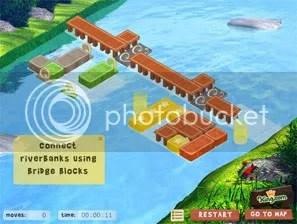 Tampilan apik dari game Wooden Path dari Remivision, sponsor oleh King.com