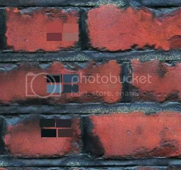 Brick wall texture will colours selected in photo editing software