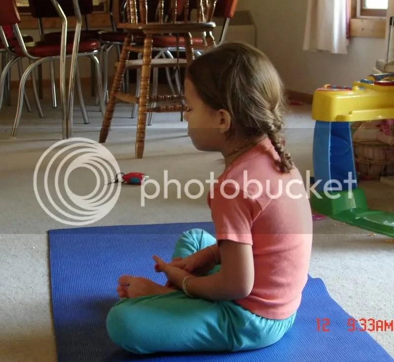 Grace meditating