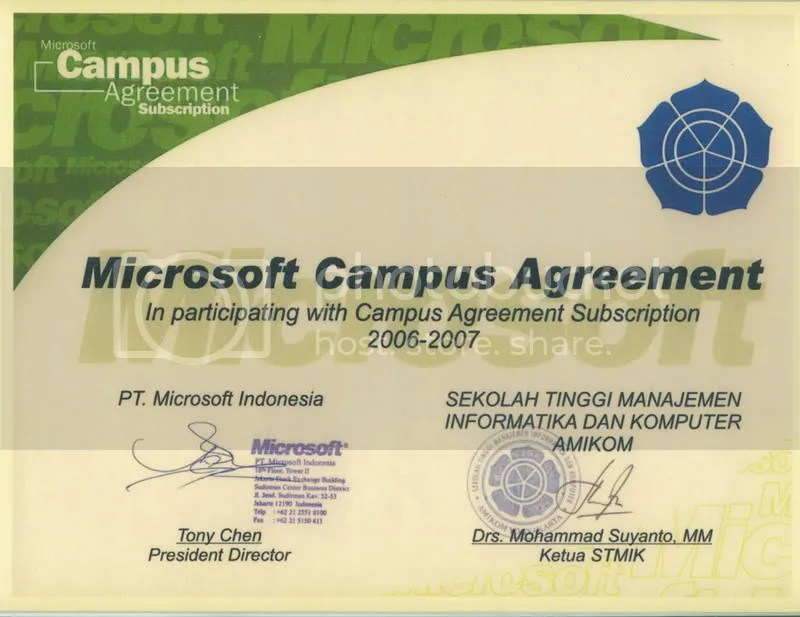 Microsoft Campus Agreement Mca Hosting Murah By Wordpress