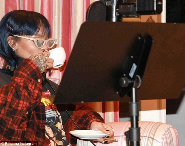 Rihanna released candid pictures on the internet showing post album anti studio pics