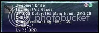 Augmented Dweomer Knife #1