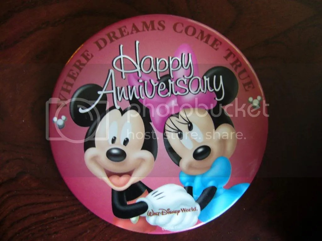 Free anniversary pins for us!